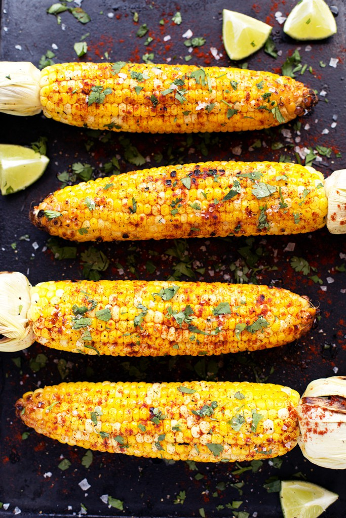 Corn on the Cob Grilled image via Blissful Basil