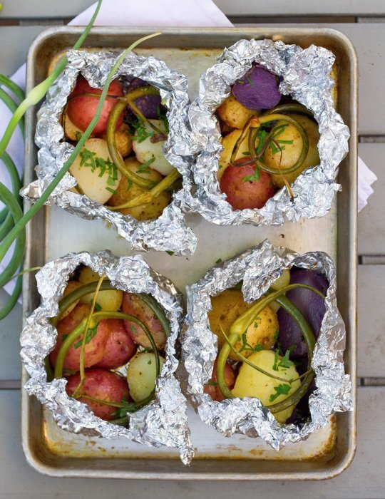 Packet Potatoes on the Grill Image via Sara Kate Gillingham