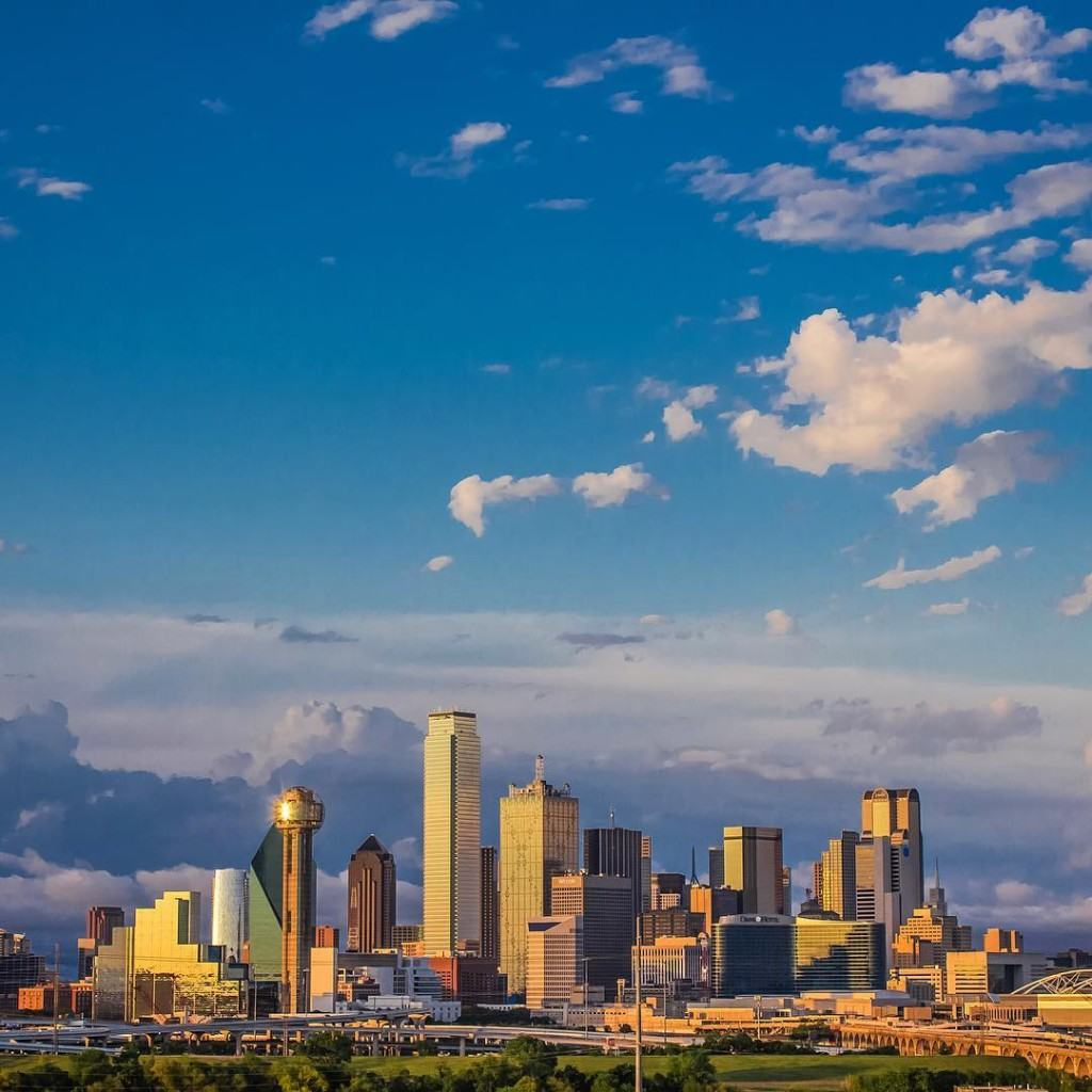 Dallas Skyline // Photo via Joseph Haubert @whateveryouare