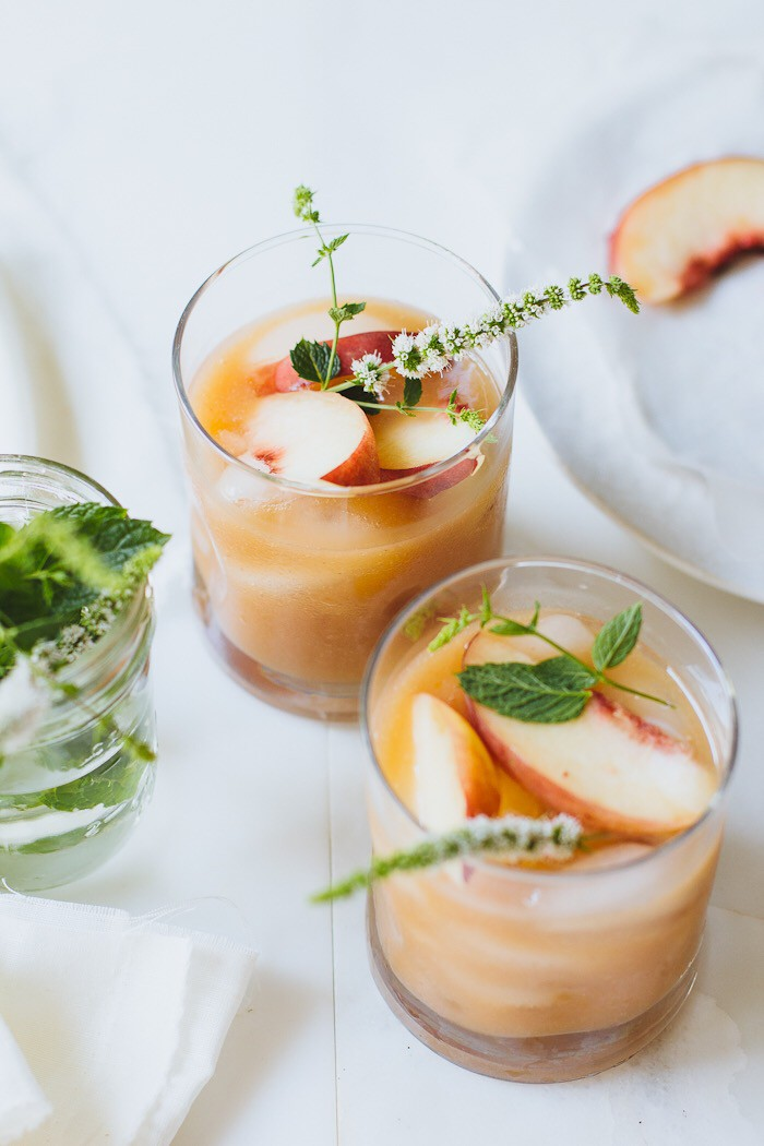 White Peach Margaritas Summer Cocktail