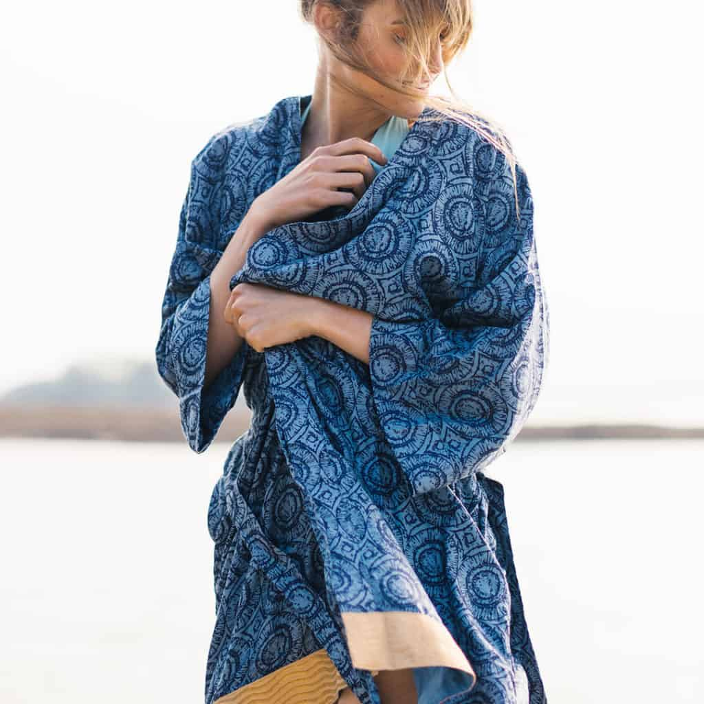 Kala Robe for Wear Blue Day and National Slavery and Human Trafficking Prevention Month
