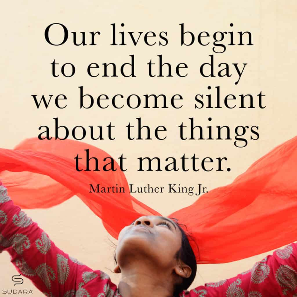 National Slavery and Human Trafficking Prevention Image with MLK Quote